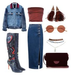 """""""Untitled #38"""" by lemonade6784 on Polyvore featuring Romeo Gigli, Roberto Cavalli, WithChic, Wet Seal, Jamie Wei Huang, Louis Vuitton, Roksanda and Oliver Peoples"""