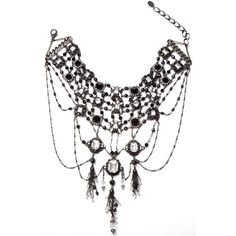 Erickson Beamon Minds Eye Necklace found on Polyvore featuring polyvore, women's fashion, jewelry, necklaces, white and black necklace, swarovski crystal jewelry, black and white jewelry, cocktail jewelry and erickson beamon necklace