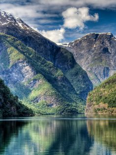 NAERØYFJORD, Norway: was formed by about 8000 BC. The 11-mi-long fjord is only 1,600 ft wide in some parts. It has been rated by the National Geographic Society as the world's number one natural heritage site along with the Geirangerfjord.