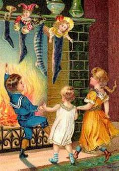 celebration before the fire .. Victorian Christmas