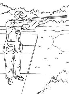 Coloriage De Chasse Au Sanglier à colorier - Dessin à imprimer | pêche et chasse | Pinterest