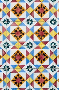Image of 'Traditional Portuguese glazed tiles'
