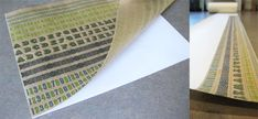 printed designs to thin kraft paper from a roll.  DIY on how to feed through printer.