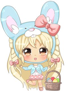 HAPPY EASTER!!! I hope I'm not too late because it's still Easter Day II. Okay, I tried to finish this in time. I always end up doing these things very late. This is a little drawing of Blondey in ...