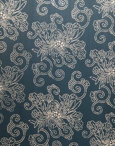 Chrysanthemum stencil, so pretty, possibly a little too asian for my style, but I love the cream on cobalt color scheme.