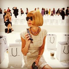 Anna Wintour at Marc Jacobs SS 2013