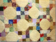 an easy scrap quilt nine patch and snowball