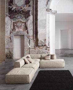 Scatto fotografico in location con affreschi per Bonaldo