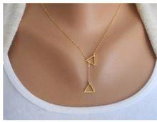 Xl456 2016 nova moda contratado Triangular geométrica colares para presentes da jóia das mulheres por atacado(China (Mainland))