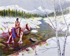 Winter Hunt ~ Native American Indian by Frank Holloway