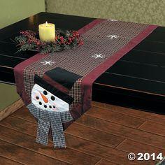 Snowman+Table+Runner+-+TerrysVillage.com
