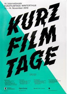 Typeverything.com  Kurz Film Tage poster byPhilipp Herrmann.
