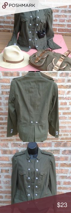 MOTO LIKE MILITARY GREEN JACKET NWT Military green jacket with lots of detail. Fully lined - size medium runs small bust 32-34 DuJour Jackets & Coats Jean Jackets