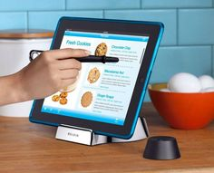 What are your favorite apps and gadgets for cooking at home? I love this tablet stand + wand for the kitchen.