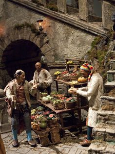 Amazing Neapolitan Baroque Crèche/Presepe Scene