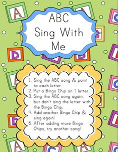 Centers: ABC, Sing With Me   Elementary Music Resources could do something similar w/other simple songs