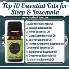 Essential oils to aide sleep