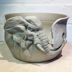 Elephant Yarn Bowl. by mmanuella