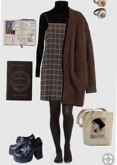 Vintage Fashion Outfits Girls Ideas For 2019 Hipster Outfits, Mode Outfits, Grunge Outfits, Dress Outfits, Fall Outfits, Casual Outfits, Dresses, Dress Shoes, 90s Fashion