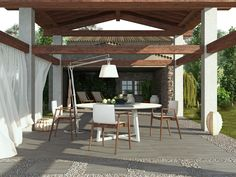 WOODSOUL Collection - COLORKER #DUPLO #20mm #outdoors #tiles #porcelain #woodeffect #decor  #colorker Patio Design, Tile Design, Miami Weather, Miami Living, Patio Tiles, Paved Patio, Wood Tile Floors, Outdoor Pergola, Swimming Pools