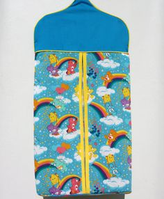 Colorful Care Bear Diaper Holder,  diaper stacker, diaper bag, nappy holder