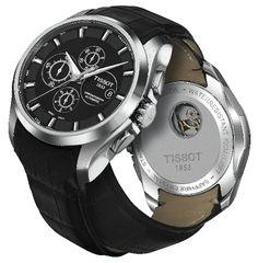 Relojes para novio o bodas: Reloj Tissot Couturier automático en correo de piel (T035.627.16.051.00)