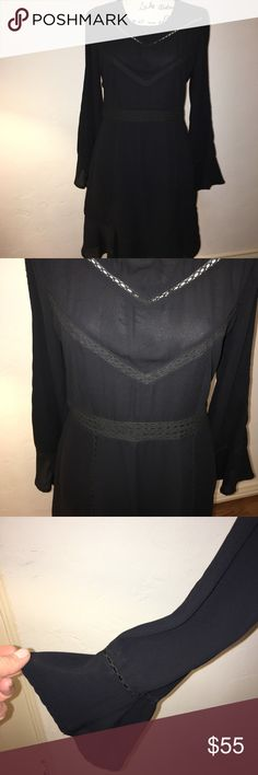 Anthropology dress Amazing detail on this dress make it look delicate and anything but basic. Lined skirt. Excellent used condition. Just dry cleaned. Ro & De Dresses