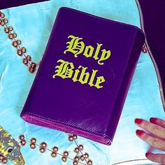 Purple Holy Bible Clutch by #SkinnyBags Add some color to your outfit with a bit of an #edge with this high quality #leather clutch.