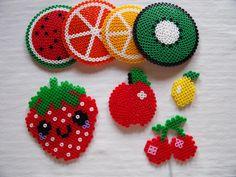 NEU!  Bügelperlen-Vorlagen: Obst