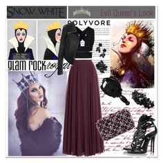 """""""SnowWhite Contest: Evil Queen's Look"""" by zogra ❤ liked on Polyvore featuring Villain, Halston Heritage, STELLA McCARTNEY, Linea Pelle, Rodo, Giuseppe Zanotti, Anna Sui, Valentino, women's clothing and women's fashion"""