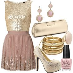 """gold"" by dfanny on Polyvore"
