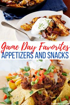 Sometimes the best thing about watching the game (especially if your team ends up losing) is the appetizers and snacks. Let me tell you that these are some of my absolute favorites snacks to have on game day and they're ones your family will love! #gamedaysnacks #nachos #slowcooker #bbqchicken #hotcorndip #queso #chilicheesefries #baconcheesefries #pigsinablanket Easy To Make Appetizers, Easy Appetizer Recipes, Yummy Appetizers, Brunch Recipes, Cheesy Recipes, Spicy Recipes, Veggie Recipes, Kids Cooking Recipes, Game Day Food