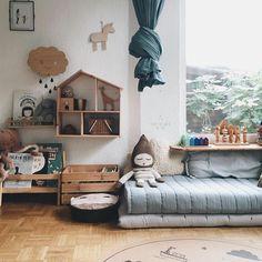 This dreamy nursery decor ticks all of our boxes! Playroom Decor, Baby Room Decor, Kids Decor, Nursery Decor, Toddler And Baby Room, Toddler Rooms, Kids Room Design, Room Kids, Kids Rooms