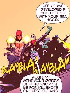 Jason Todd (Red Hood) & Damian Wayne (Robin)