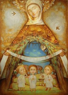 Beautiful pictures of Mary for the month of May Pictures Of Mary, Images Of Mary, Mama Mary, Blessed Mother Mary, Ukrainian Art, Holy Mary, Sacred Art, Religious Art, Our Lady