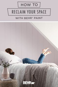 Are you ready to reclaim your space? Start with a new coat of BEHR® Paint! This traditional girl's bedroom uses Dusty Lilac, from the new BEHR® 2020 Color Trends Palette, to define this cozy alcove. Click below to discover more interior design inspiration.