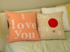 Come Fly With Me  Pillow Cover by OliveHandmade on Etsy, $38.00