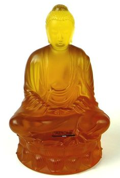 Buy online, view images and see past prices for Lalique Amber Crystal Buddha Statue. Invaluable is the world's largest marketplace for art, antiques, and collectibles. Art Nouveau, Art Deco, Greek Statues, Angel Statues, Amber Crystal, Amber Glass, Statue Tattoo, Stone Statues, Sculpture Art