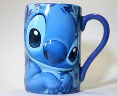 STITCH-DISNEY-3D-CERAMIC-COFFEE-MUG-NEW-LARGE-BLUE-CUP-FREE-SHIPPING
