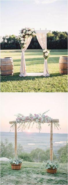 Rustic wedding arches & alter wedding ideas #rustic #wedding #weddingideas / http://www.deerpearlflowers.com/wedding-ceremony-arches-and-altars/
