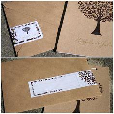 Ensemble Faire-part de mariage, invitation, menu, carte de remerciementde mariage thème nature et ecologique, modèle Season