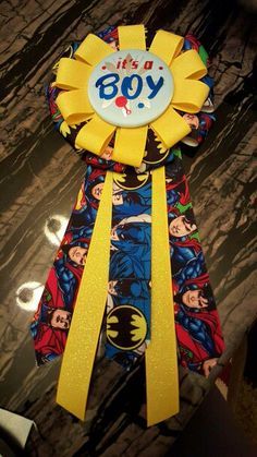 Superhero Baby Shower Ribbon