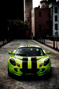 Lotus Elise GT3 Lime green with black speed stripes :)