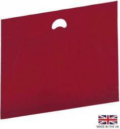Burgundy plastic carrier bags - premium quality with punched out handles - 2 sizes in stock for next day delivery!