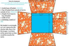 Sewing Tutorials So Much Sew: Basket Liner Tutorial Sewing Hacks, Sewing Tutorials, Sewing Patterns, Bag Tutorials, Purse Patterns, Sewing Tips, Fabric Crafts, Sewing Crafts, Sewing Projects