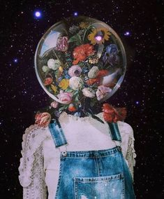 Head in space phone background. surrealista Image about art in Fondos de pantalla by Nizita Quintero Art Du Collage, Collage Design, Art Collages, Collage Illustrations, Flower Collage, Collage Drawing, Drawing Art, Instagram Collage, Foto Instagram
