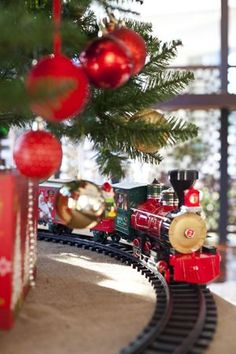 The Christmas tree train, always a delight.