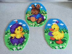 Pearler Bead Patterns, Perler Patterns, Pearl Crafts, Art Perle, Motifs Perler, Beading For Kids, Easter Egg Crafts, Easter Eggs, Hama Beads Design