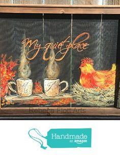 nesting hen, outdoor art , window screen,coffee art,friends art Made to order from RebecaFlottArts http://www.amazon.com/dp/B0176ZXYQI/ref=hnd_sw_r_pi_dp_8e7lwb02TX08H #handmadeatamazon