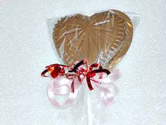 Chocolate Heart Sucker by GumpasteGarden on Etsy, $15.00